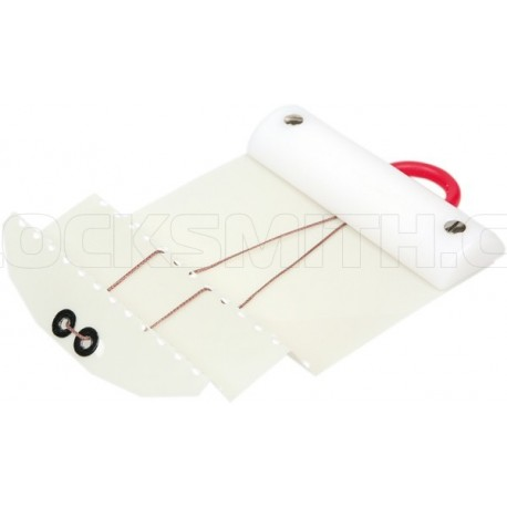 Latch Opening Card for Double-Offset Doors (white) 0,35 mm