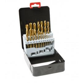 Titanium HSS Spiral Drill Set 19 pcs DIN 338