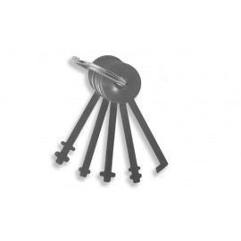Warded-Padlock-Pick Set (5 pcs)