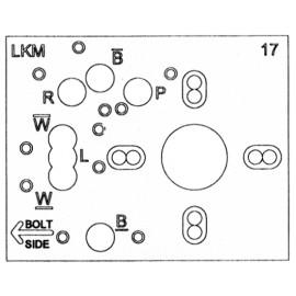 Vrtací šablona Kaba-Mas Cencon/Auditcon & Slidebolt