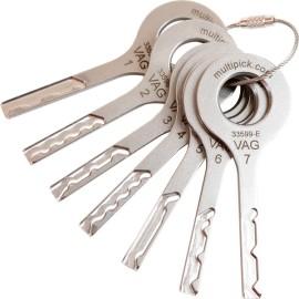 VAG – simulační klíče (7 ks) - nerez ocel
