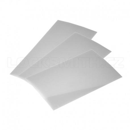 Plastové karty 9 ks (3 x 0,25 + 3 x 0,35 + 3 x 0,50)