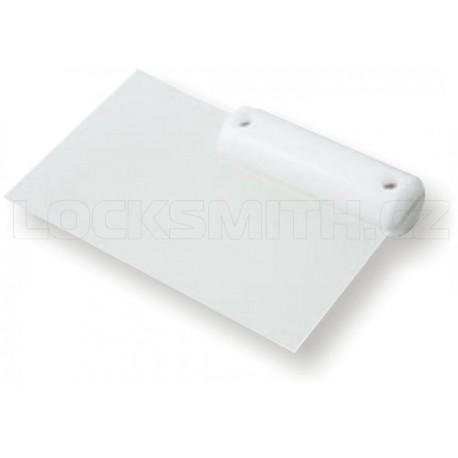 Plastová karta v bílé rukojeti - 0,35 mm