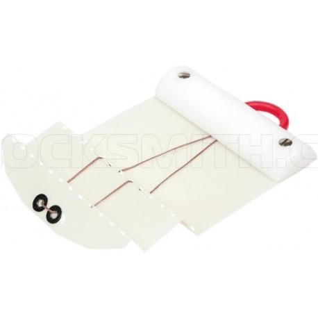 Plastová karta pro dvojitý falc (bílá) 0,35 mm