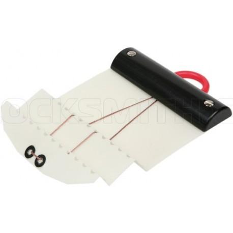 Plastová karta pro dvojitý falc (černá) 0,50 mm