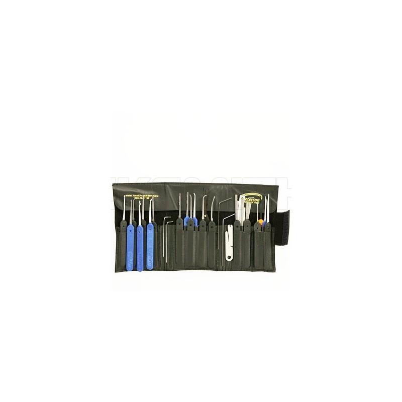 Peterson G Set - Textured Plastic Handles 37 pcs | Locksmith CZ