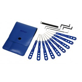 DINO Blue Stainless Pickset - 14 pcs