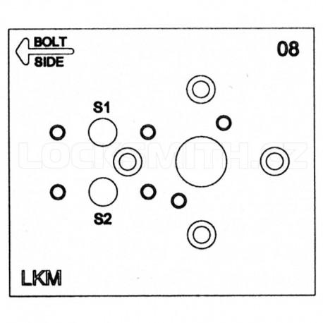 Electronic Lock Template, LaGard 3500 Swingbolt