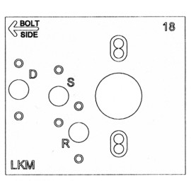 Electronic Lock Template, Amsec ESL10/ESL20