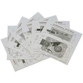 Set vrtacích šablon - mechanické a elektronické zámky